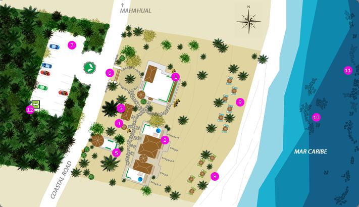 Almaplena Eco Resort Beach Club Hotel Map
